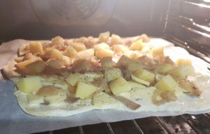 Pizza vegan mise en cuisson - Veggie Avenue
