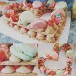 Number cake décor macarons - Veggie Avenue