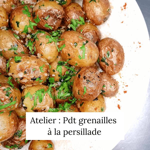 Pommes de terre grenailles à la persillade