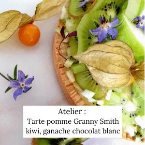 tarte pomme granny smith-kiwi, ganache chocolat blanc - Veggie Avenue
