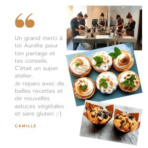 Avis Camille - cours de cuisine Veggie Avenue